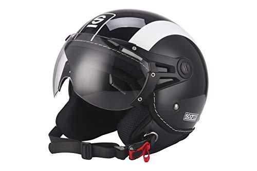 Sparco Riders Casco 501 Negro/Blanco, talla M