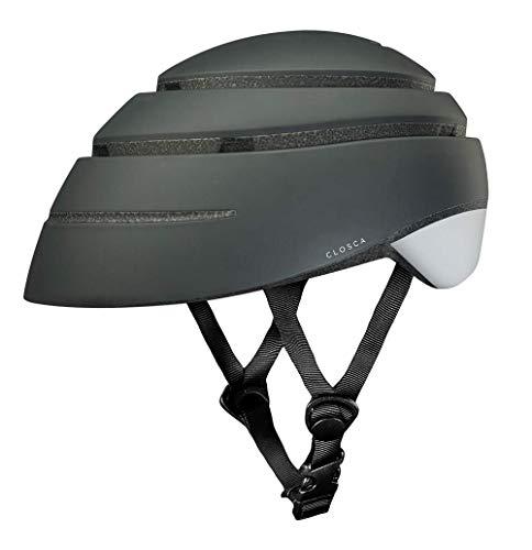Closca Casco de Bicicleta para Adulto, Plegable Helmet Loop. Casco de Bici y Patinete Eléctrico/Scooter para Mujer y Hombre Unisex. Negro/Blanco, Talla M