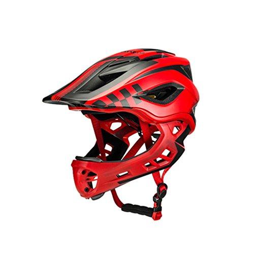 ROCKBROS Casco Bicicleta para Niños 3-15 Años, Casco Integral Desmontable Ajustable para MTB BMX Ciclismo, 48-58cm
