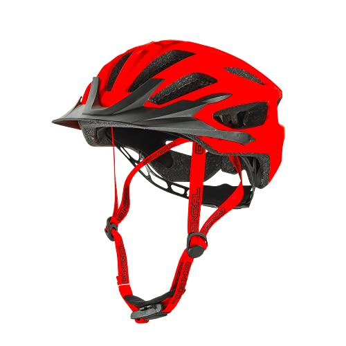O'NEAL   Casco de Ciclismo de montaña   Enduro All-Mountain   Sistema de ventilación eficiente, Sistema de Ajuste de Talla, Aprobado por EN1078   Casco Q RL   Adulto   Rojo   Talla XS/S/M