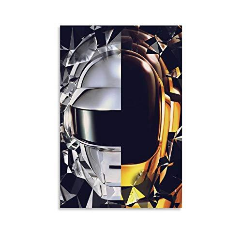 JIELAI Póster de Daft Punk con casco de moto, impresión artística, impresión de imagen moderna para habitación familiar, 30 x 45 cm