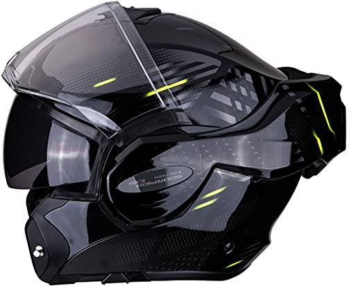 Scorpion NC Casco per Moto, Hombre, Negro/Azul/Blanco, L