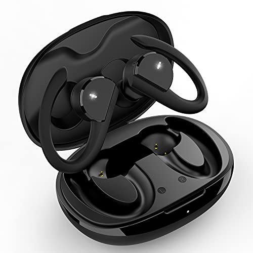 Auriculares Inalambricos Deportes Auriculares Bluetooth 5.0 Deportivos IPX7 Impermeable 30H Autonomia Auriculares Inalámbricos Bluetooth con Caja de Carga Micro Running