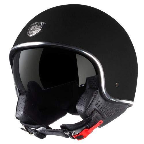 Astone Helmets - Minijet 66 - Casque jet vintage - Casque style rétro US - Casque de moto en polycarbonate - matt black M