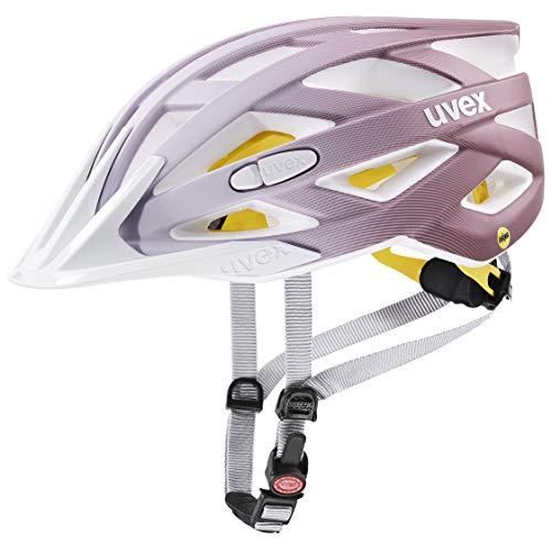 Uvex i-Vo CC MIPS Casco de Bicicleta, Unisex Adulto, White-rosé Mat, 56-60 cm