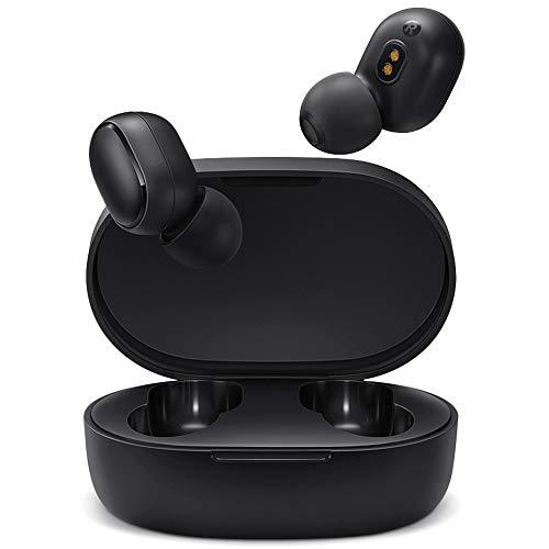 Timoom Xiaomi Redmi Airdots 2, Bluetooth 5.0 Auriculares Inalámbricos, Wireless Earbuds, Auriculares Estéreos Manos Libres con Micrófono, Impermeable IPX4, Estuche de Carga Magnét