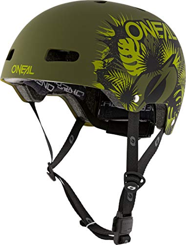 O'NEAL   Casco para Bicicleta de montaña   Enduro All-Mountain   Ventilación y ventilación, Sistema de Ajuste de Talla, tecnología Zone Flex   Casco Dirt Lid ZF Plant   Adultos   Verde   Talla M L