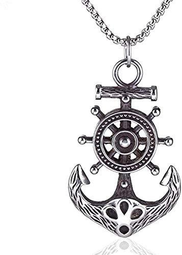 BEISUOSIBYW Co.,Ltd Collar Metal Punk Barco Casco Y Barco Ancla Náutico Colgante Collar Regalo