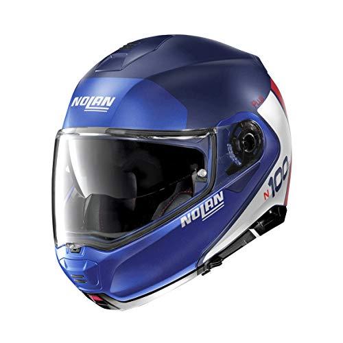 Nolan N100-5 P - Casco para moto M FLAT IMPERATOR BLUE