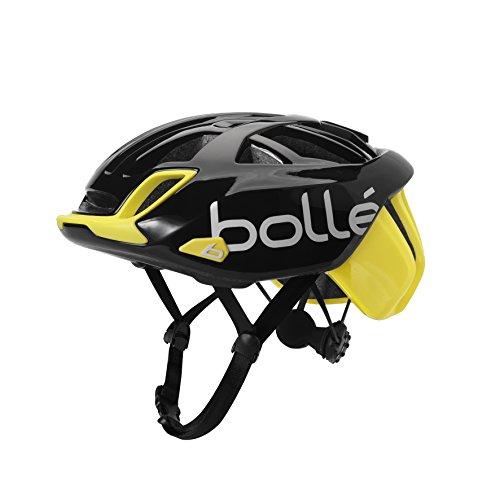 bollé 31583 Casco Ciclismo, Unisex Adulto, Black Yellow Shiny, Small 51-54 cm