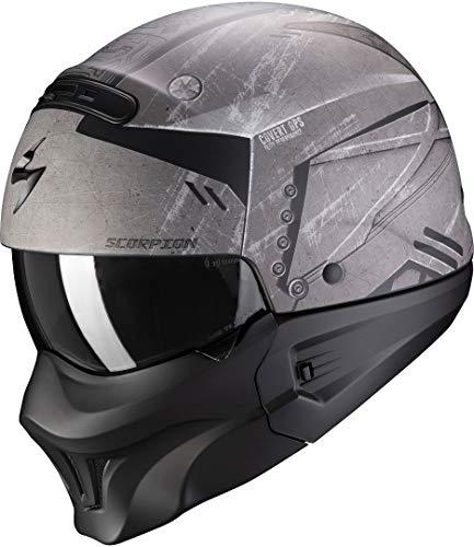 Casco de moto Scorpion EXO-COMBAT EVO INCURSION Matt Silver-Black, Negro/Gris, L
