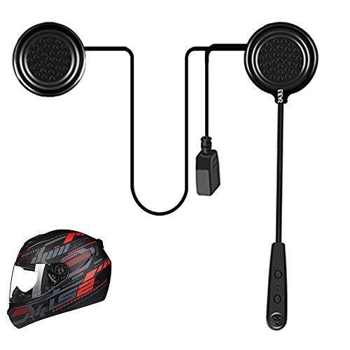 EJEAS E1 Auriculares Motocicleta Casco Bluetooth 4.1 Manos Libres Moto Casco Auricular Altavoces música Mic Control de Llamadas Ruido 12H Auriculares Altavoces Comunicación de Auriculares