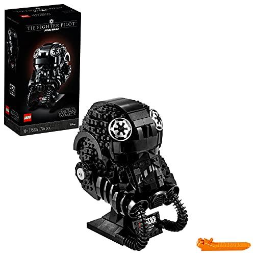 LEGO 75274 Star Wars Tie Fighter Pilot - Figura de construcción de Casco de piloto de Caza Tie