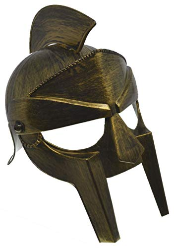 VENTURA TRADING HT2 Casco de Gladiador con Protector Facial móvil Casco Romano Armadura Romana Espartano Griego Casco centuriano Gladiador Antiguo Guerrero Armadura