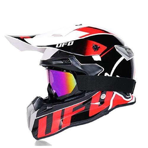 ZHHTT Cascos de Motocross, Casco ECE Dot ATV MX Amazon para Hombres y Mujeres, Utilizado para Off-Road/Racing/Mountain Bike/competición Profesional, 54-61cm (Color : Helmet 1, Size : M)