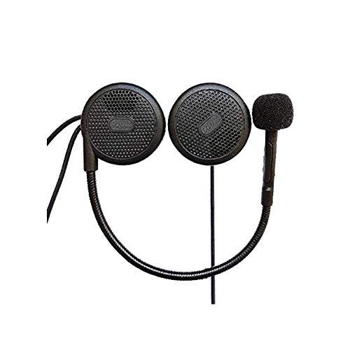QSPORTPEAK Auriculares Intercomunicador Bluetooth para Casco de Motocicleta Moto Intercom Headset L1M Motocicleta Inalambricos Headset Intercom Bluetooth 4.1 Manos Libres con Micrófono Auriculares