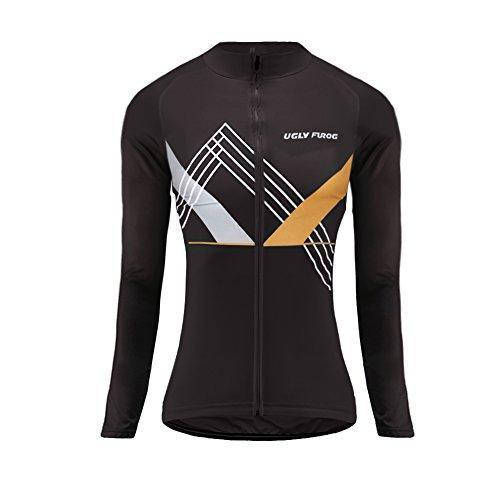 UGLY FROG Último Mujer Warm Ciclismo Mangas Largas Maillots Cremallera Completa Moda Transpirable Winter Cálido Ropa Deportiva