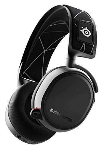 SteelSeries Arctis 9 Auriculares Inalámbricos Duales Para Gaming, Sistema Inalámbrico De 2.4GHz Sin Pérdidas + Bluetooth, Para PC, Playstation 5 y PS4