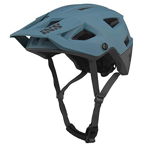 IXS Trigger Am MTB Casco, Unisex, Negro y azul, M/L size(58-62cm)