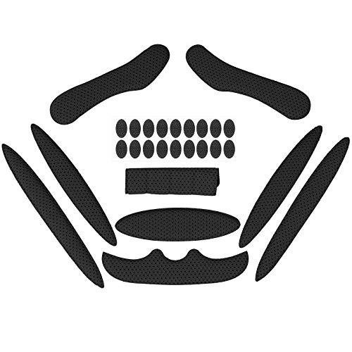 Himetsuya Magic Stick Almohadillas de Espuma para Casco 1 Juego de protección de Esponja de Viscosa con Revestimiento anticolisión para Bicicleta eléctrica Motocicleta Negro