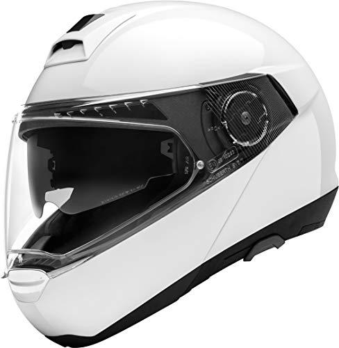 SCHUBERTH C4 Pro Blanco Brillante Modulares Casco De Motocicleta Tamano L