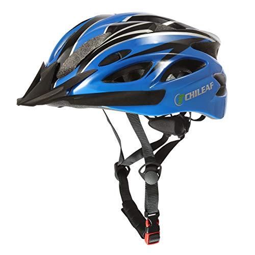 CHILEAF Casco de Bicicleta Certificado CE Casco de Bicicleta para Hombre con Visera Desmontable Casco de Ciclismo Ligero Protección Seguridad Tamaño Ajustable Ciclismo Carretera Montaña Adultos
