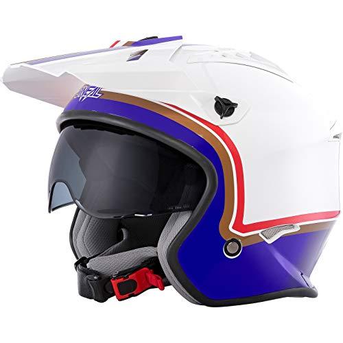Oneal Volt Helmet ROTHMANS White/Purple/Red S (55/56cm) Casco Moto MX-Motocross, Adultos Unisex
