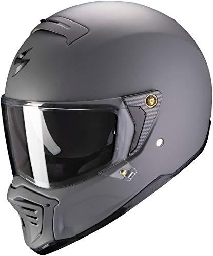 Scorpion Casco de moto EXO-FIGHTER Matt cement grey, Gris, M