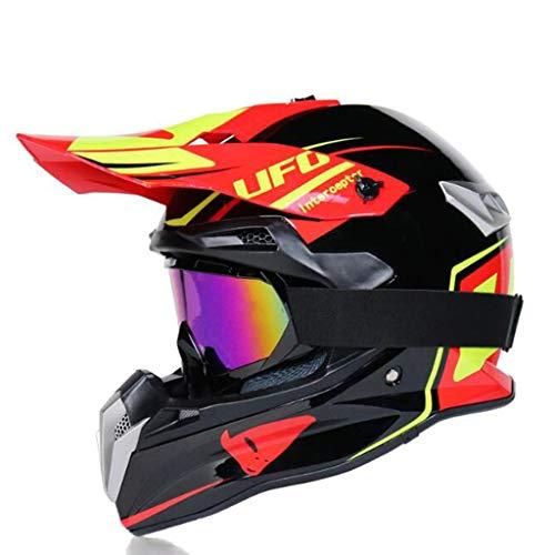 ZHHTT Cascos de Motocross, Casco ECE Dot ATV MX Amazon para Hombres y Mujeres, Utilizado para Off-Road/Racing/Mountain Bike/competición Profesional, 54-61cm (Color : Helmet 6, Size : L)