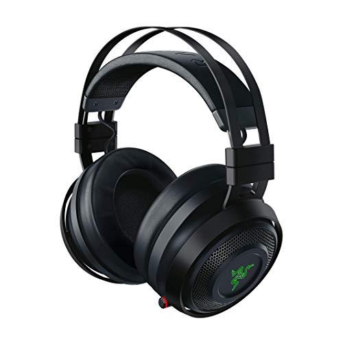 Razer Nari Ultimate Auriculares Inalámbricos Tecnología HyperSense, THX Spatial Audio, Almohadillas con Gel de enfriamiento, Auriculares Gaming compatibles con PC, PS4, Switch y Dispositivos móviles