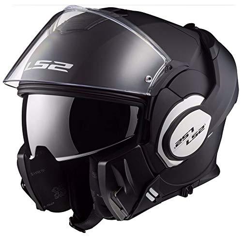 LS2, casco de moto modular VALIANT negro mate, M