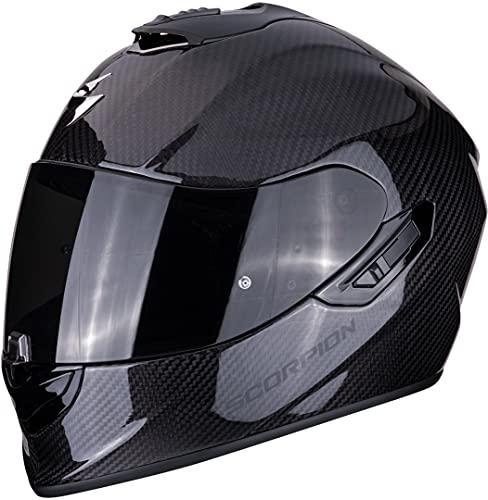 Scorpion Casco de moto EXO 1400 AIR CARBON Solid 2476_25850, Negro, L