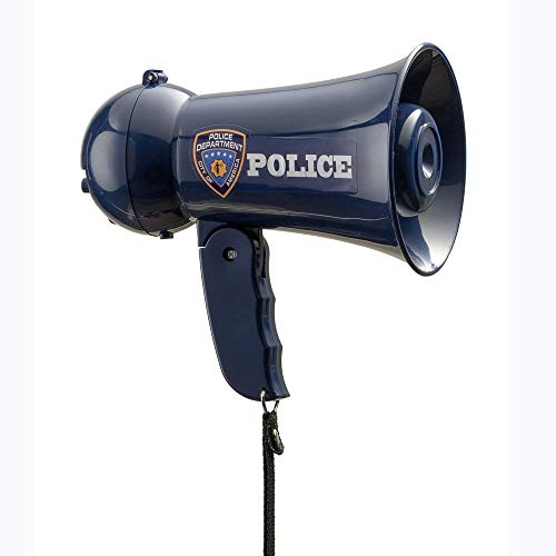 Dress Up America Police Juego de simulación del megáfono del Oficial de policía con Sonido de Sirena para niños, Color Azul (910)