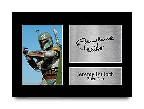 HWC Trading Jeremy Bulloch A4 Sin Marco Regalo De Visualización De Fotos De Impresión De Imagen Impresa Autógrafo Firmado por Star Wars Boba Fett Los Aficionados Al Cine