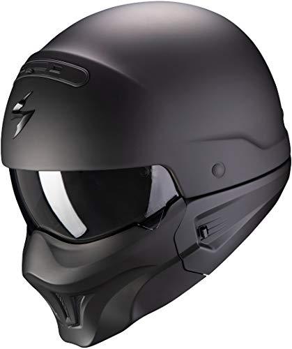 Scorpion Casco de moto EXO-COMBAT EVO Matt Black, Negro, L