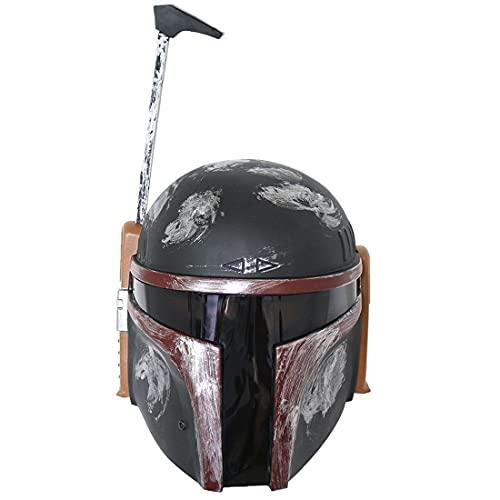 Knowoo Star Wars The Black Series Boba Fett Premium Casco electrónico, The Empire golpea a escala completa Roleplay coleccionable