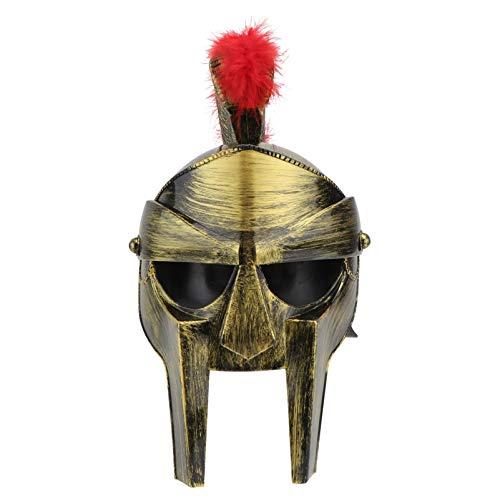 PRETYZOOM Casco de Centurión Romano Guerrero Troyano Romano Soldado Espartano Disfraz Casco Guerrero Portátil Cascos Espartanos Disfraz Medieval