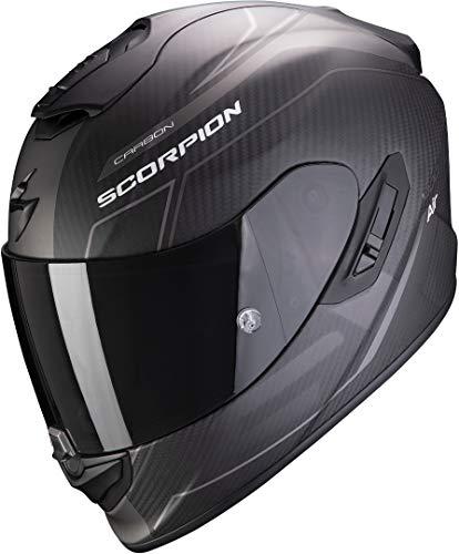 Scorpion NC Casco per Moto, Hombre, Negro/Gris, S