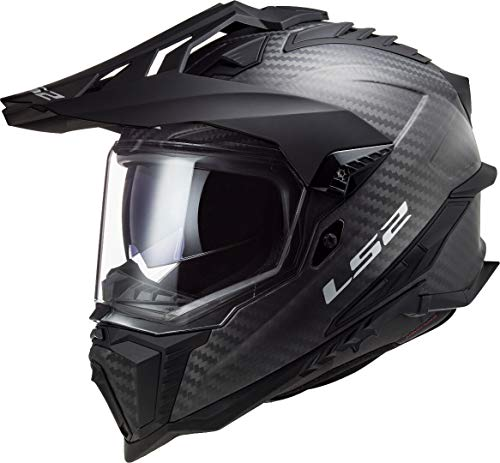 LS2, casco cross de moto Explorer, XL, Gloss Carbon