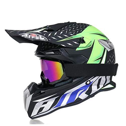 ZHHTT Cascos de Motocross, Casco ECE Dot ATV MX Amazon para Hombres y Mujeres, Utilizado para Off-Road/Racing/Mountain Bike/competición Profesional, 54-61cm (Color : Helmet 3, Size : L)