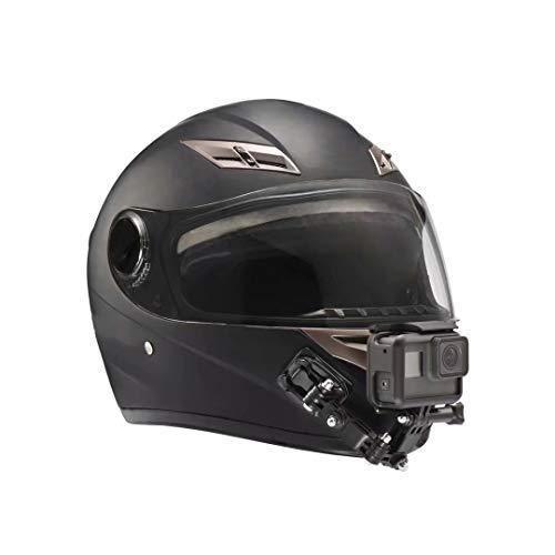 Lupholue Casco para Motocicleta Barbilla giratoria Kit de Montaje de rotación de pivotes de 3 vías Compatible with GoPro Hero 7, (2018), 6 5 4 3, Hero Black, Sesión, Xiaomi Yi, SJCAM