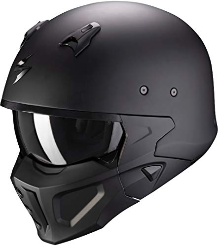 Scorpion Covert X Solid Casco Moto, Hombre, Negro, XXL