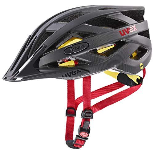 Uvex i-Vo CC MIPS Casco de Bicicleta, Unisex Adulto, Titan-Red Mat, 52-57 cm
