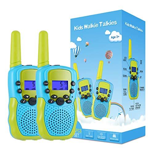 Kearui Juguetes para Niños de 3-8 Años,Walkie Talkie para Niños 8 Canales LCD Pantalla VOX Larga Distancia 3KM,Regalos para Niños o Niñas de 3 a12 Años