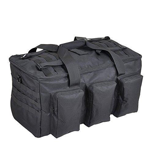Greenpromise 60L al aire libre camping hombres militar táctica mochila 1000D nylon para ciclismo senderismo deportes escalada bolsa, negro, 30*32*58cm