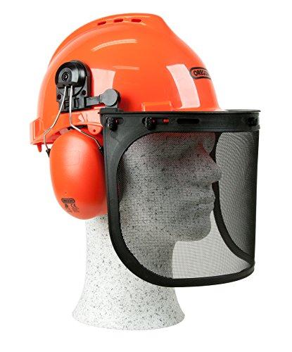 Oregon 562412 - Casco de seguridad Yukon con visera y protección auditiva, cómodo y resistente a los impactos, equipo de protección