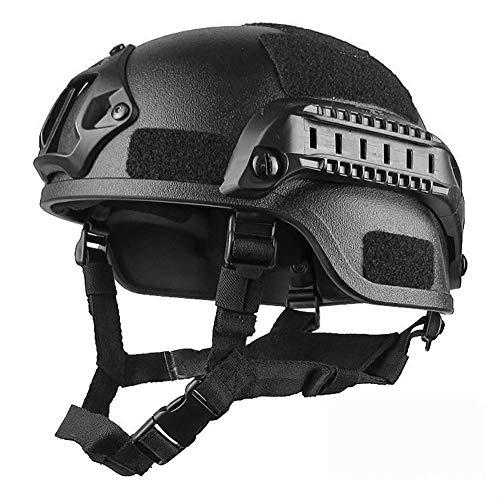 Combate Táctico Militar Casco De Airsoft Paintball Tactical Protector De Cabeza Ejército Cascos Gear Accesorios (Negro)