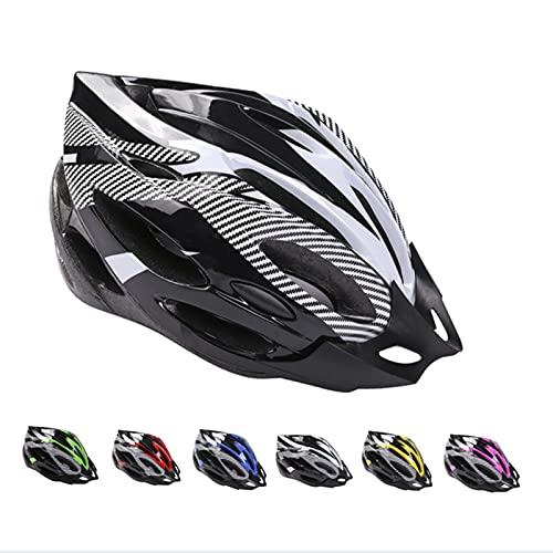 Casco de Bicicleta de Montaña, Casco de Bicicleta para Adultos Casco Ajustable con Visera Extraíble Casco de Bicicleta MTB City Specialized para Bicicleta de Montaña y para Hombres y Mujeres Blanco