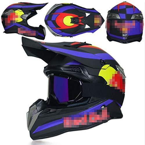 ZHHTT Cascos de Motocross, Casco ECE Dot ATV MX Amazon para Hombres y Mujeres, Utilizado para Off-Road/Racing/Mountain Bike/competición Profesional, 54-61cm (Color : Helmet 10, Size : M)