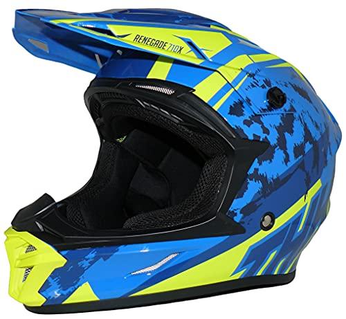 Protectwear casco cruzado casco de enduro modelo azul amarillo R710X-L